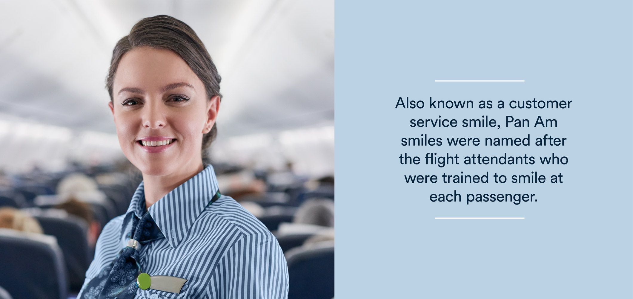 a pan am smile is also known as a customer service smile