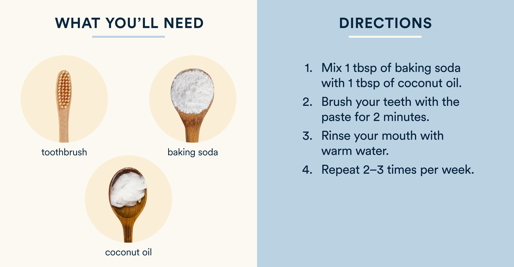 coconut oil and baking soda teeth whitening instructions