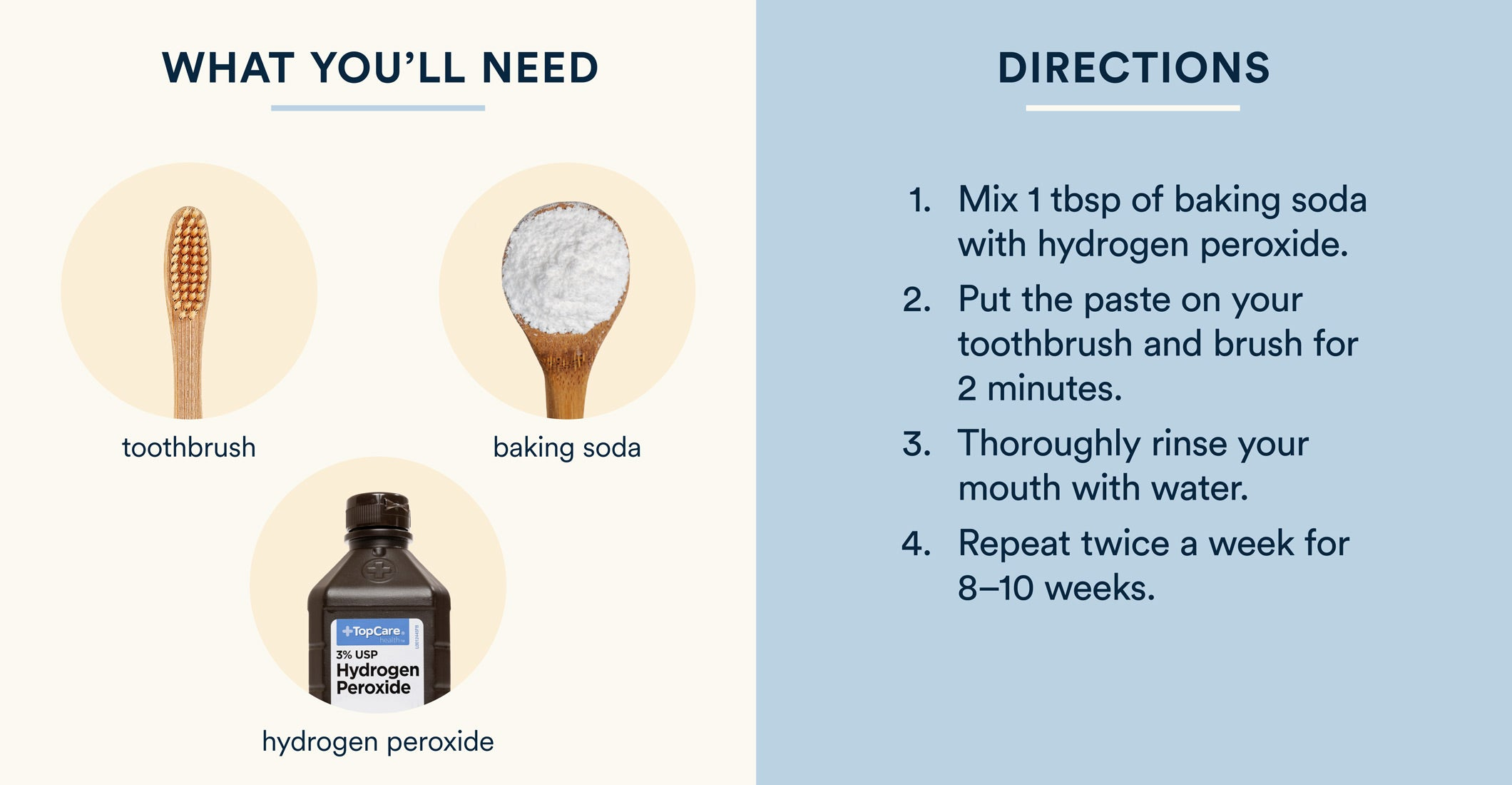 how to whiten teeth with baking soda and hydrogen peroxide