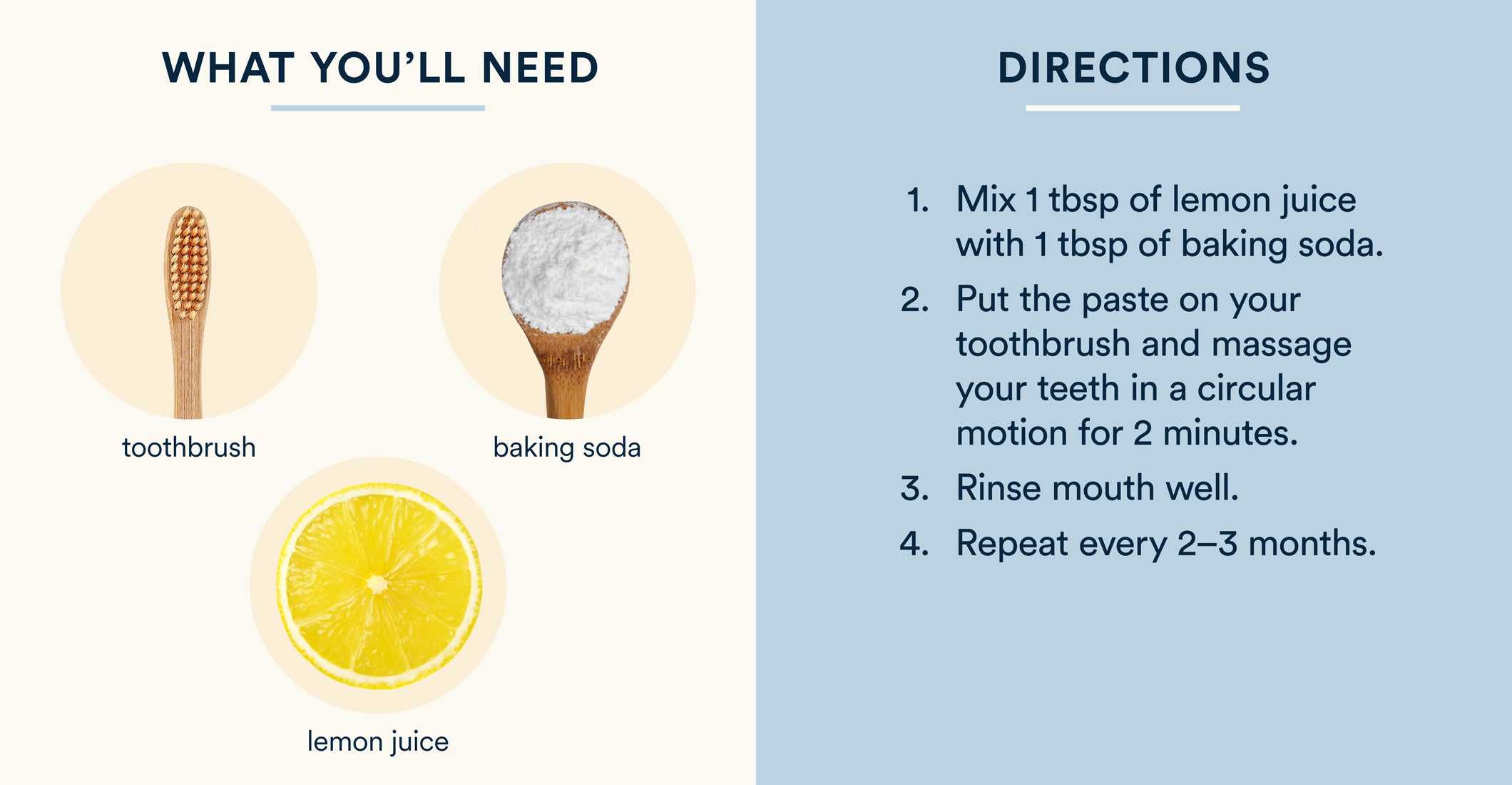 how to whiten teeth with baking soda and lemon juice