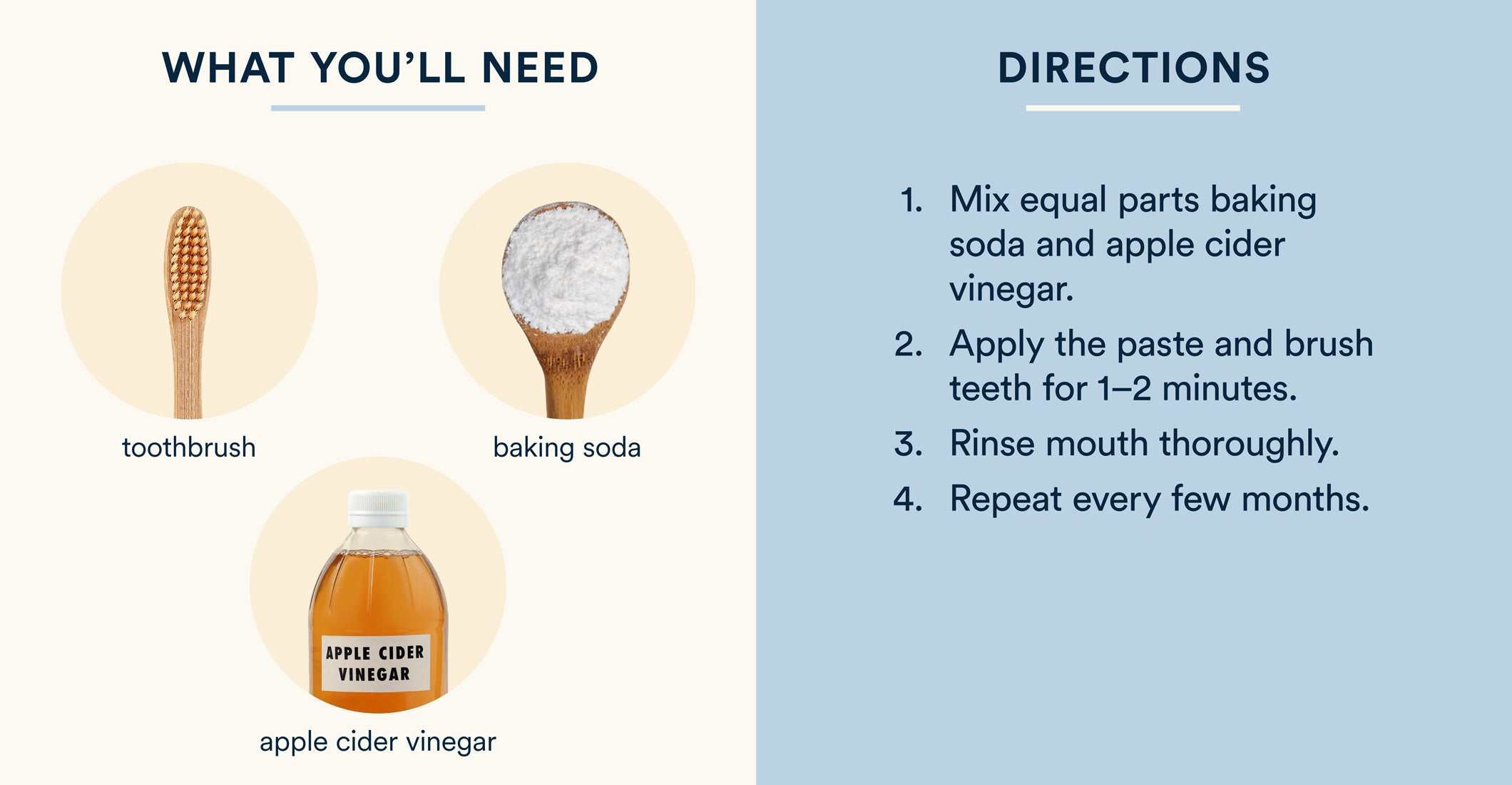 how to whiten teeth with baking soda and apple cider vinegar