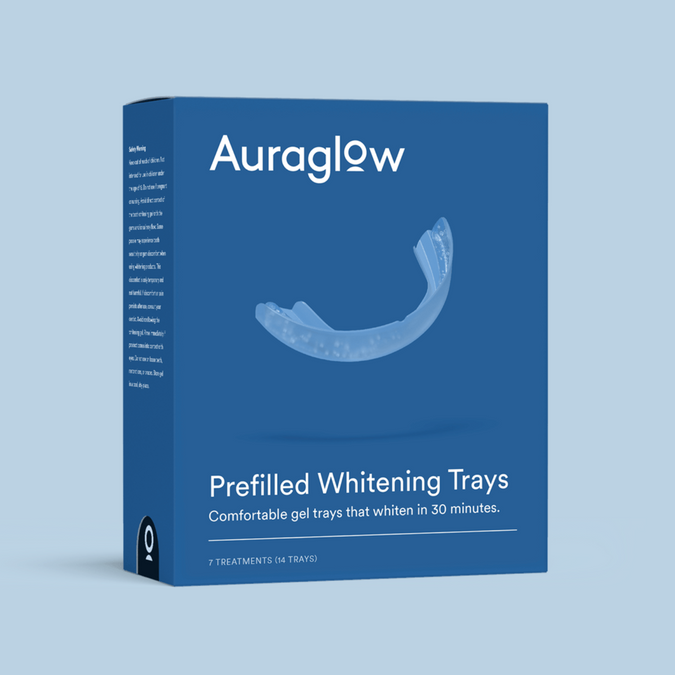 auraglow radiant effects teeth whitening trays
