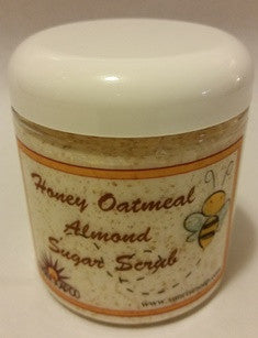Honey Oatmeal Almond Sugar Scrub