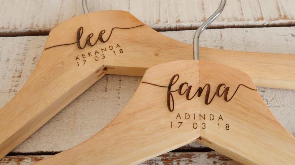 New - Personalised Wedding Hanger