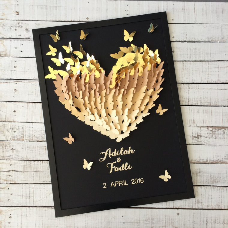 New - 3D Butterflies Guestbook