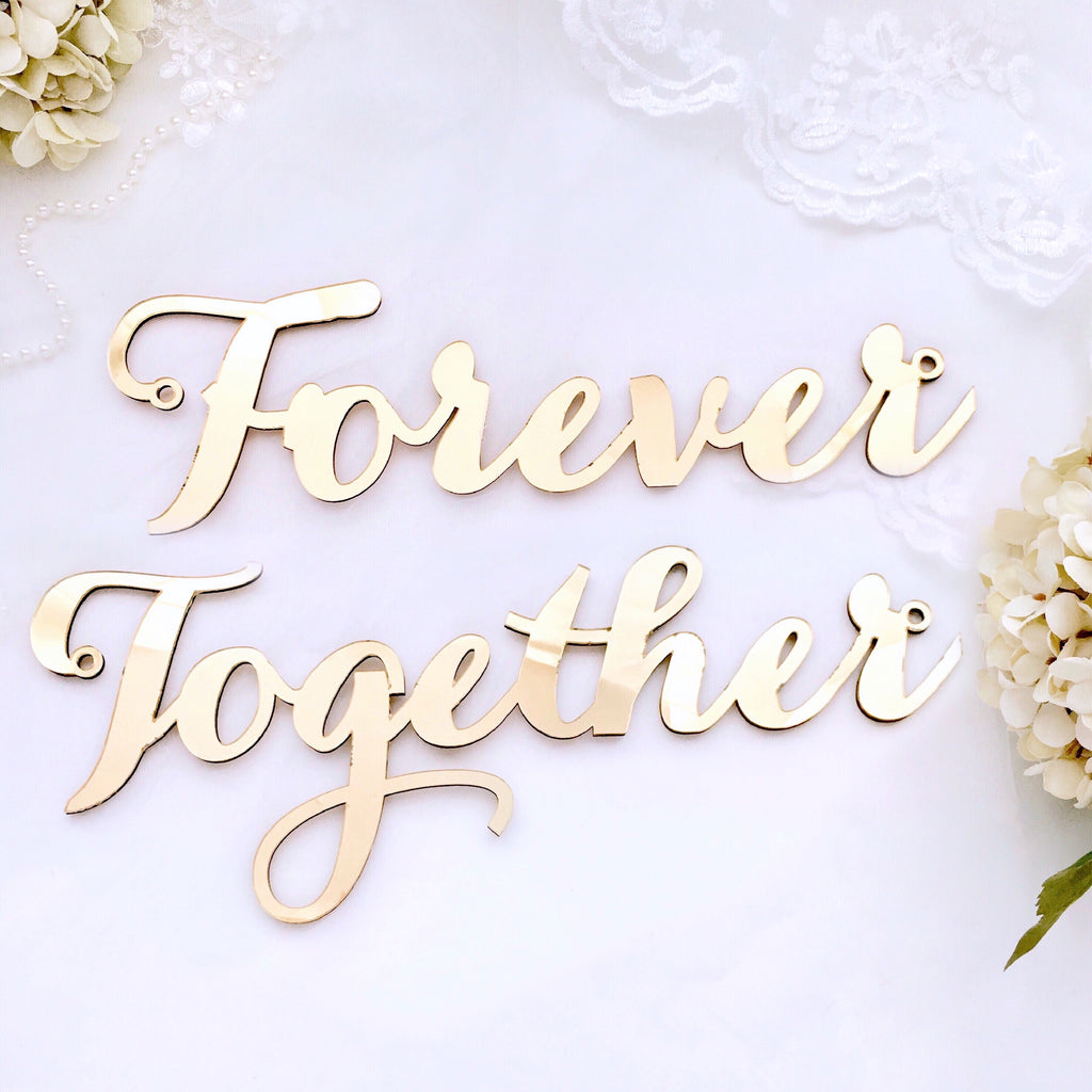 Together Forever - Chair Signage