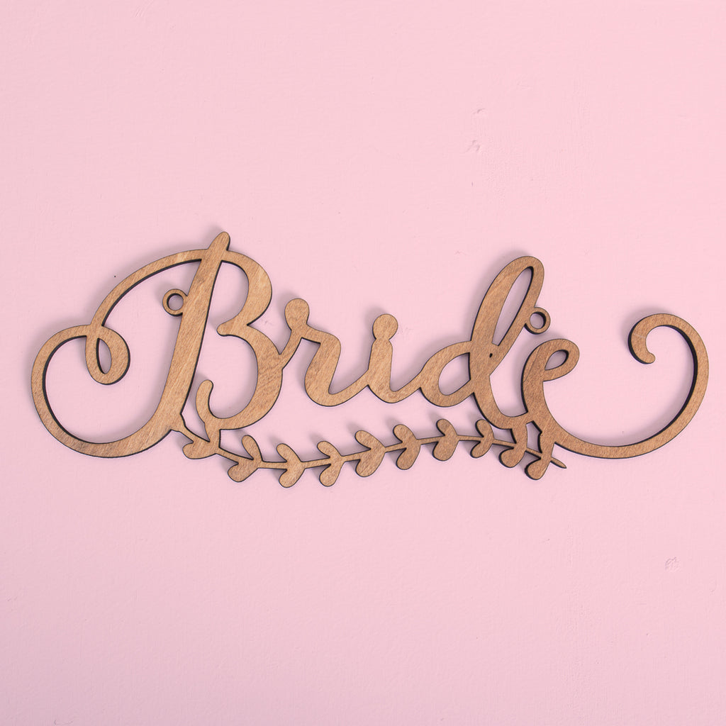 Bride & Groom - Chair Signage