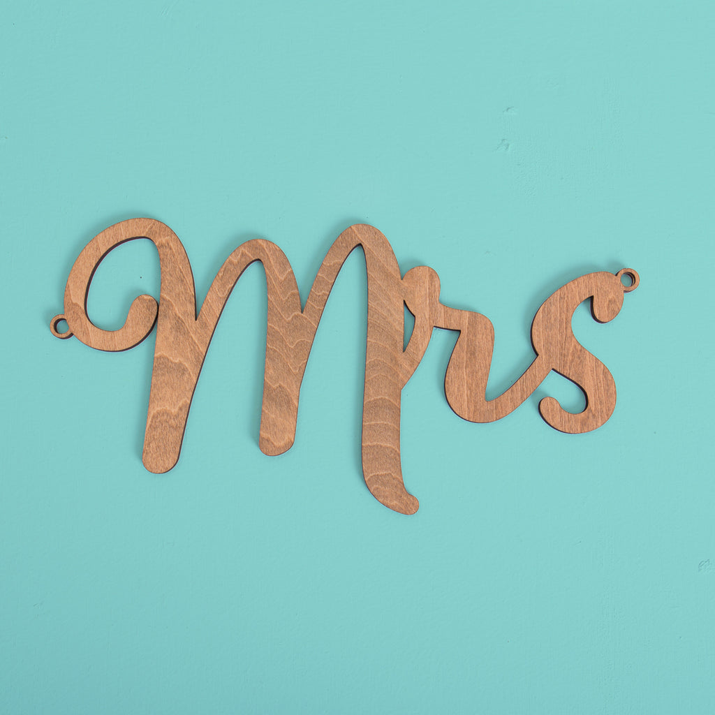 Mr & Mrs - Chair Signage