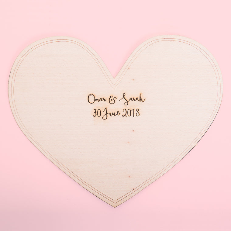 New - Heart Shaped Guestbook