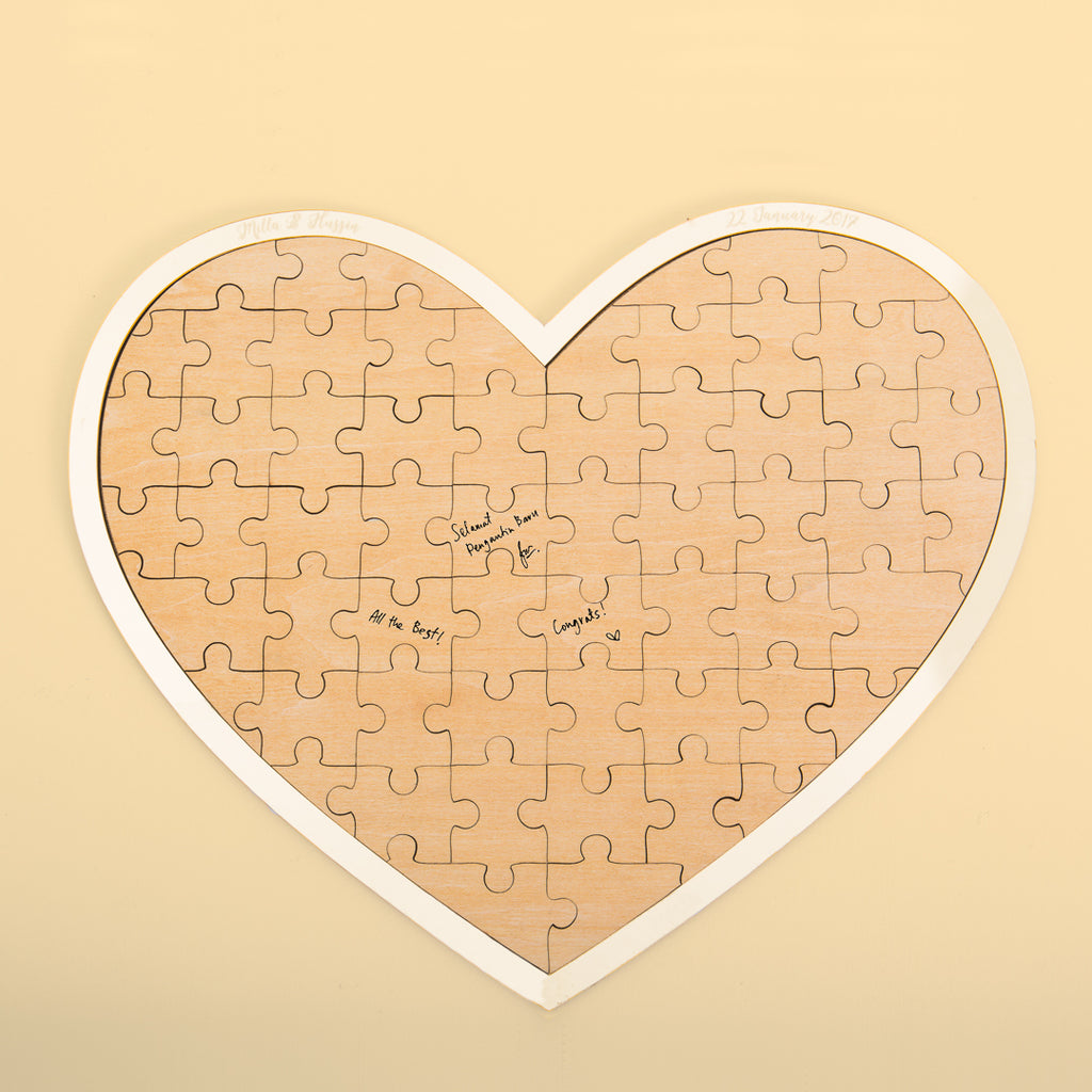 Heart  Jigsaw Puzzle Guestbook