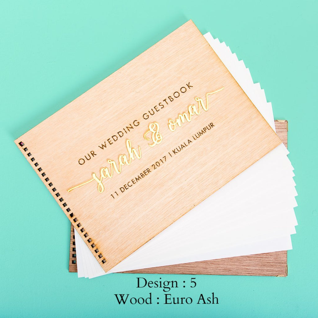 New - Wooden Wedding Guestbook
