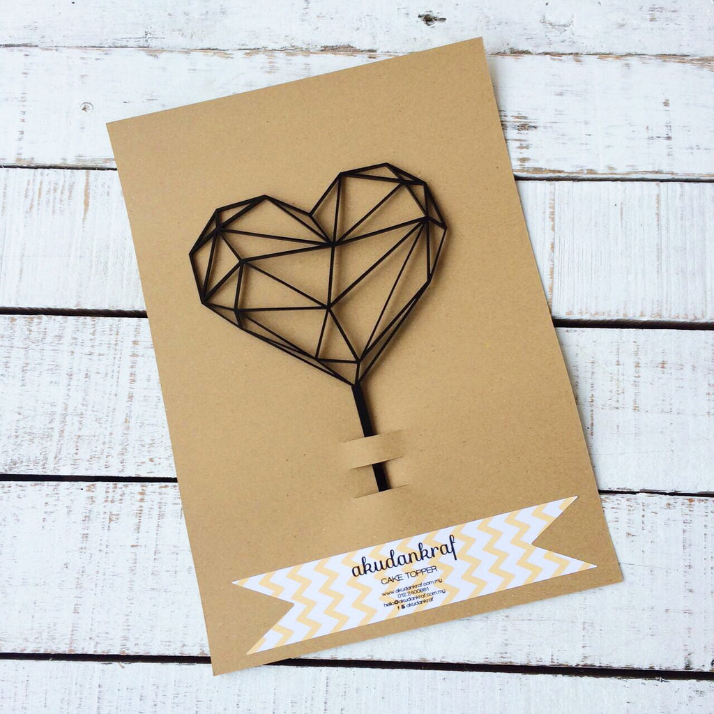 Love Geometry - Cake Topper - Acrylic
