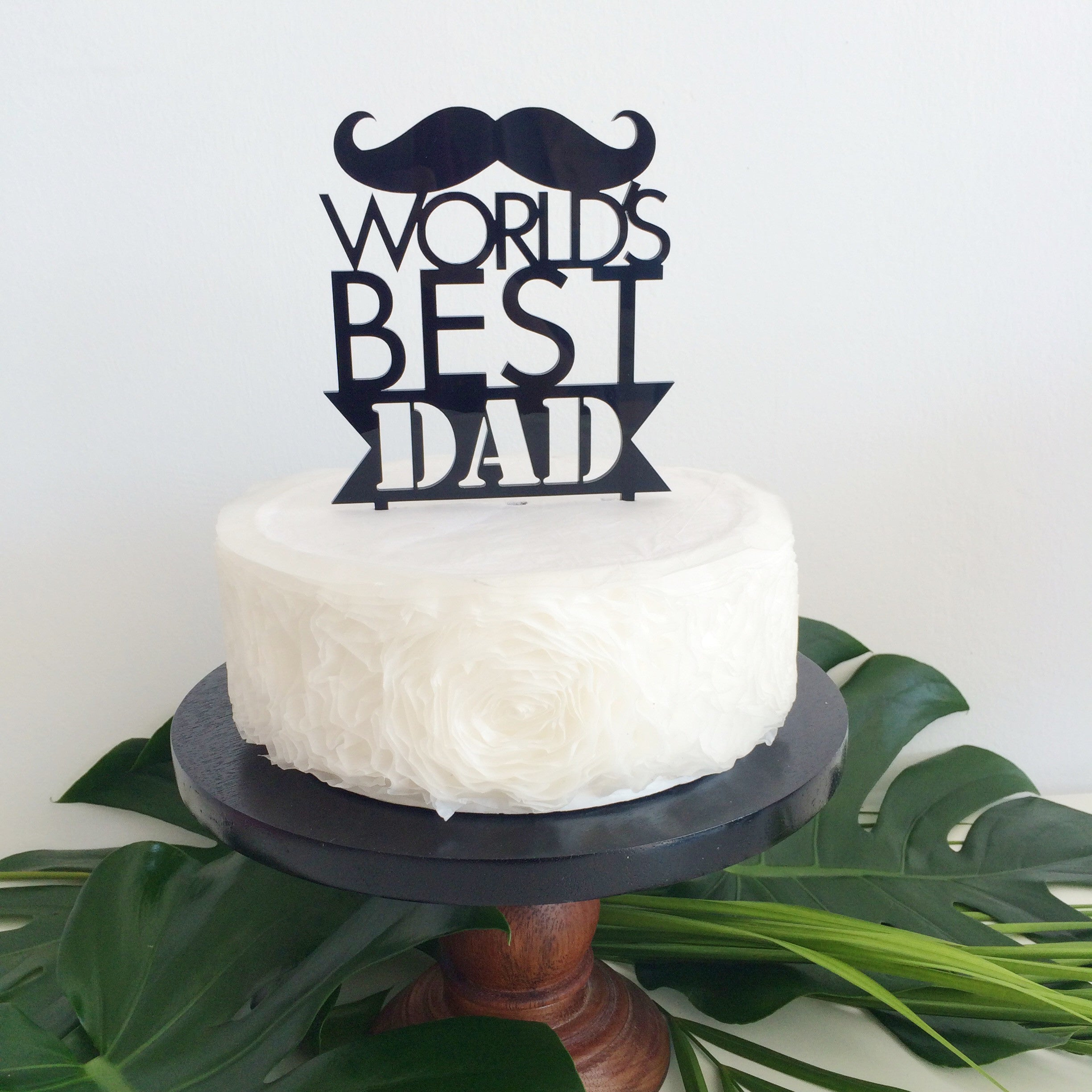 Worlds Best Dad Cake Topper
