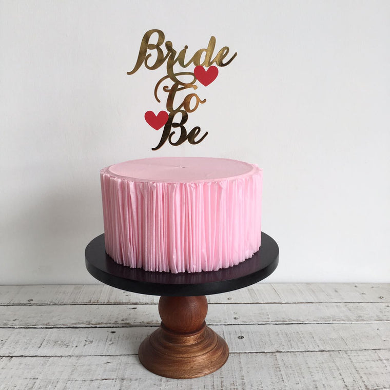 Bride to Be with Hearts - Cake Topper