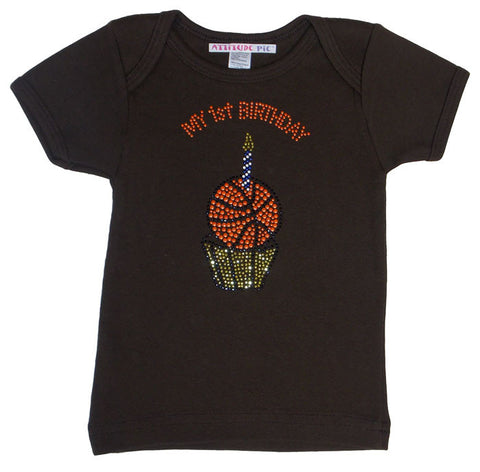 My 1st Birthday or Birthday Boy - Basketball Cupcake