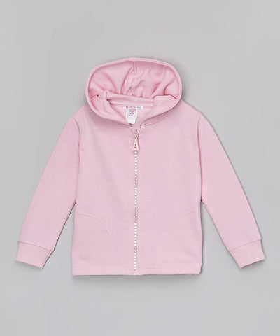 Hoodie Jacket With Crystal Zipper