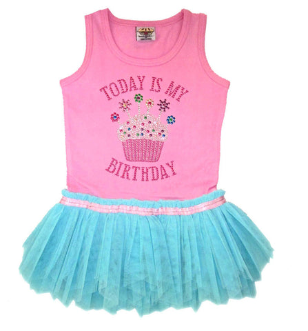 Today Is My Birthday - Tank Top Rumba Tutu Dress