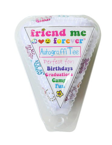 Friend Me Forever AutograffiTee™ (Includes a white tee shirt with Friend Me Forever in nail heads and a permanant marker packaged in a plastic pie shell)