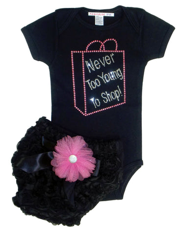 Never Too Young To Shop - Rosey Bum Set
