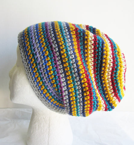Alara - Striped Multi-Color Beanie Hat Free Shipping