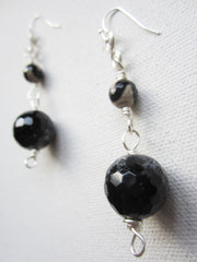 Anya - Black Agate Earrings Free Shipping