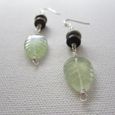 Ashe - Jade/Wood/Jasper Earrings Free Shipping