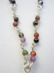Augusta - Agate/Sterling Silver Necklace Free Shipping