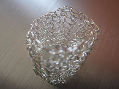 Britney - Silver-Tone Crocheted Wire Ring Free Shipping