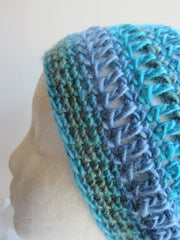 Brooklyn - Turquoise Mix Crochet Hat Free Shipping