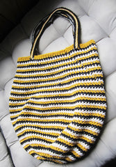 Bumble - Yellow/Black/Cream Crochet Handbag Purse Free Shipping