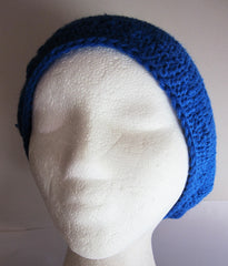 Capri - Blue Knitted Beanie/Hat Free Shipping