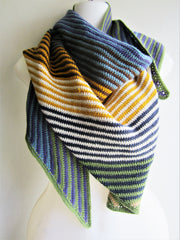 Carr - Multi-Color Crocheted Triangular Scarf Free Shipping