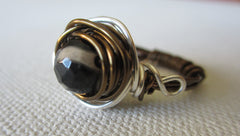 Cassidy  - Best Agate Two-Tone Ring Free Shipping