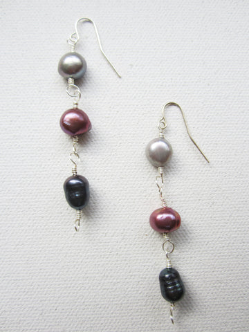 Charm - Freshwater Pearl Earrings Free Shipping