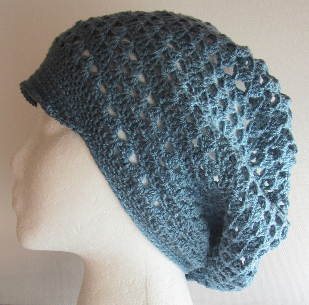 Chic - Teal Crocheted Hat Free Shipping
