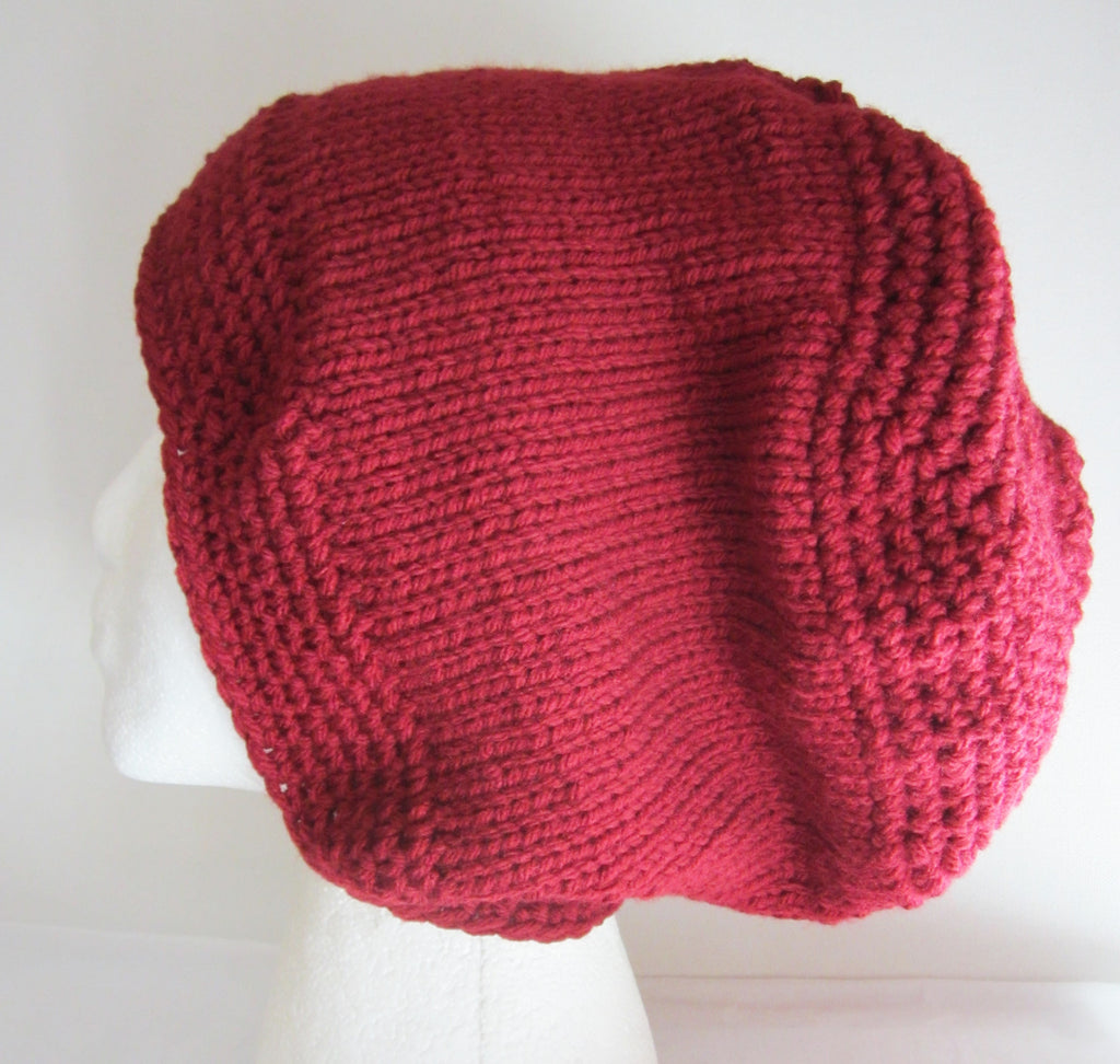 Claret - Red Knitted Beanie/Hat Free Shipping