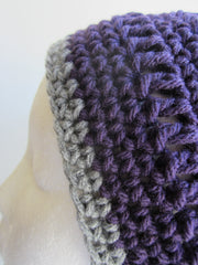 Coco - Purple/Grey Crochet Hat Free Shipping