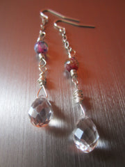 Cyrielle - Agate Faceted Glass Earrings Free Shipping