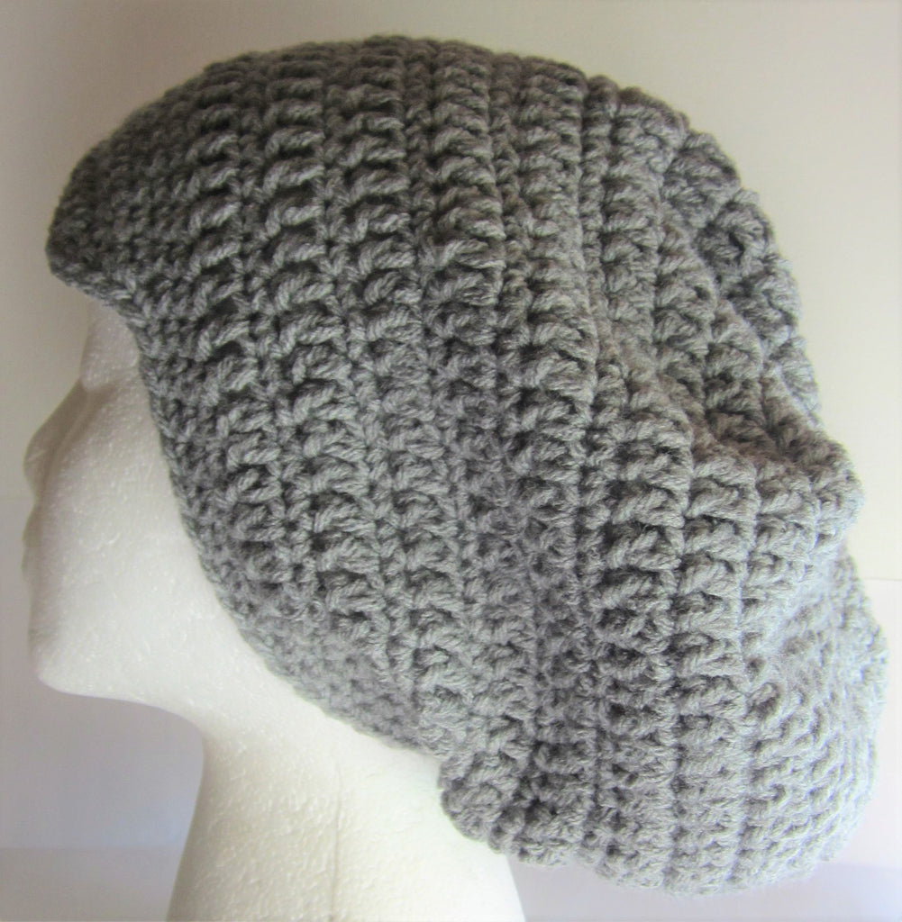 Dana - Grey Crochet Hat Free Shipping