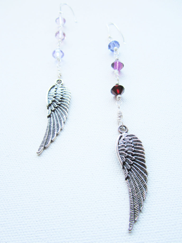 Dove - Swarovski Crystal/Wings Earrings Free Shipping