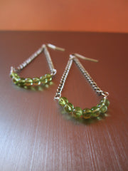 Elsa - Peridot/Chain Earrings Free Shipping