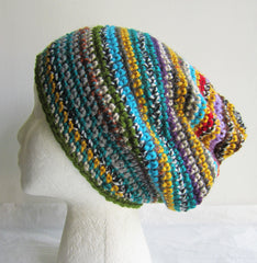 Excited - Striped Multi-Color Beanie Hat Free Shipping
