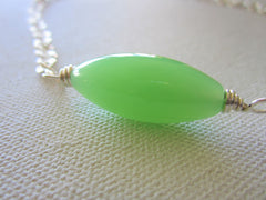 Florence - Glass/Wrapped Wire Necklace Free Shipping