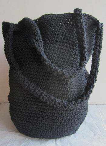 Asha - Black Crochet Handbag Purse Free Shipping