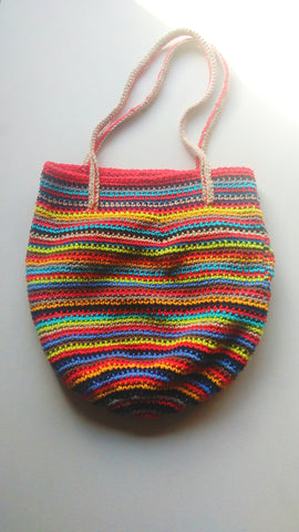 Fiestas - Multicolor Crochet Handbag Purse Free Shipping
