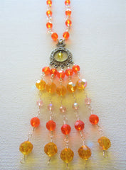 Rory - Glass Chandelier Necklace Free Shipping