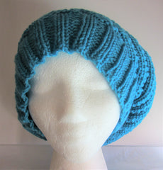 Bluebell - Turquoise Blue Knitted Beanie/Hat Free Shipping