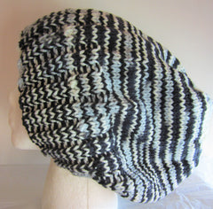 Pepper - Black/White Mix Knit Hat Free Shipping