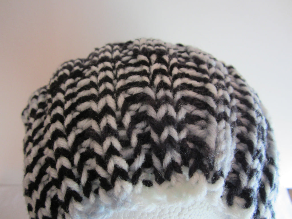 4d092c0c Pepper - Black/White Mix Knit Hat Free Shipping – C Dyann Designs