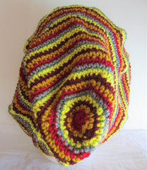Rays - Multi-Color Knit-Crochet Hat Free Shipping
